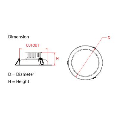 led downlight panasonic ADL11R203