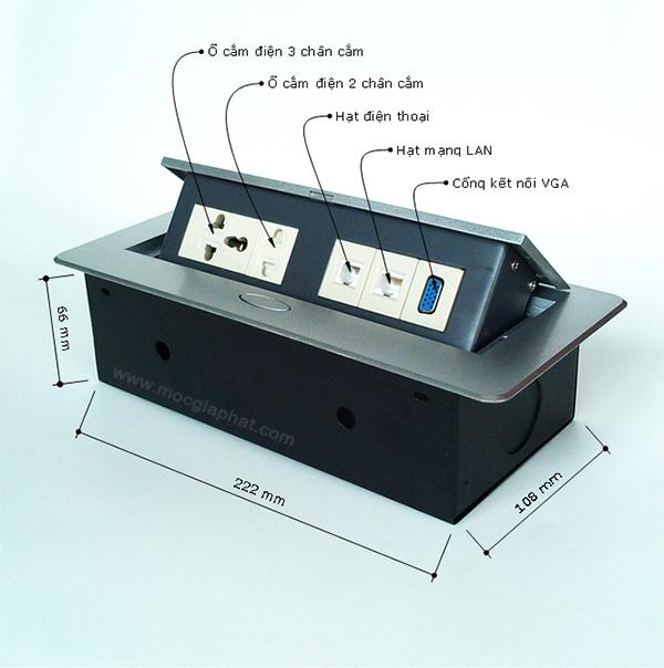 Tìm hiểu ổ cắm điện âm bàn